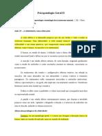 Aula 13 - PGII - A afetividade e suas alterações
