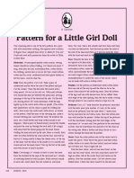 Edith Flack Ackley Little Girl Cloth Doll Pattern