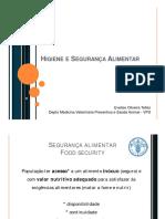 Introdução a higiene e segurança alimentar
