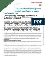 2019 ESC-EAS Guidelines for the management of dyslipidaemias