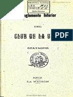 Reglamento Club de la Unión-1902