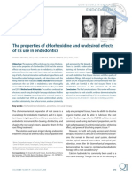 The properties of chlorhexidine and undesired effects of its use in endodontics