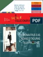 Coronavírus e novas ditaduras - GAZETA REVOLUCIONÁRIA