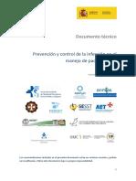 2020 - Prevención y control de la infección en el manejo de pacientes con COVID-19 - Preventiva