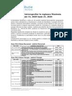 Intreruperi programate in zona Muntenia 15.06.2020 - 21.06.2020