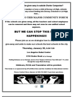 CEJ Los Angeles West Meeting Bi-Lingual Flyer for January 20, 2011