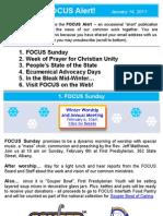 FOCUS Alert - January 14, 2011