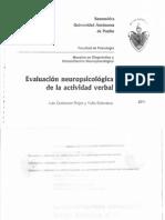 Evaluación Neuropsicológica de La Actividad Verbal