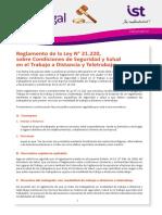 BOLETIN IST LEGAL N 57 - REGLAMENTO DE LA LEY 21220 - CONDICIONES SST EN EL TRABAJO A DISTANCIA (2)