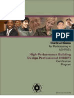 Ashrae High-Performance Building Design Professional (HBDP)