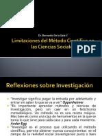 02 Limitaciones del Metodo Cientifico en las ciencias Sociales