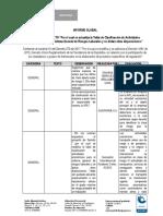 Informe Global BTX BENCENO SOLO ENTRAZAS EN LA GASOLINA