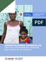Cartilla de orientaciones generales para víctimas en el exterior
