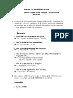 ACTIVIDAD 2 DE SITUACIONES PROBLEMAS DE LIQUIDACION DE APORTES