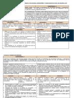 Matriz de Competencias, Estándar, Capacidades, Desempeños y Conocimientos Nivel Secundaria