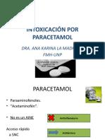 paracetamol  toxicología