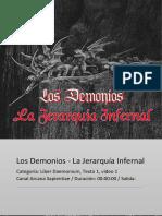 Los Demonios - Jerarquía Infernal