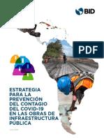 Estrategia Para La Prevencion Del Contagio Del COVID 19 en Las Obras de Infraestructura Publica