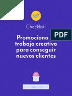 Checklist - Promociona tu trabajo creativo para conseguir nuevos clientes.pdf