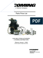 2008 Lycoming Service Parts Price List