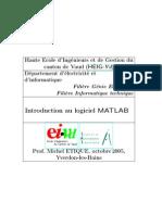 Introduction Au Logiciel MATLAB