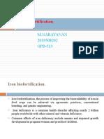 Iron fortification-Narayanan