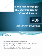 Science and Technology for Sustainable Development in Current Pandemic Energy Renewable Sanjeev Devasthali