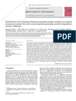 Synchronous role of coupled adsorption and photocatalytic oxidation on ordered