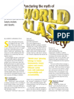 070601 ISHN Cover Story Puncturing the Myth of World Class Safety