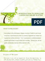 INTRODUCTION TO WORLD RELIGION AND BELIEF SYSTEM