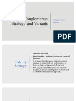 Stability, Conglomerate Strategy and Variants