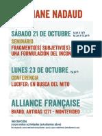 Nadaud - Afiche Uruguay A3