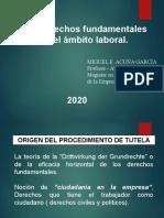 Derechos fundamentales en el ámbito laboral.