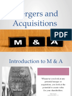 Intro to Mergers and acquisition