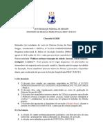 CHAMADA -PROCESSO SELETIVO SIMPLIFICADO-PIBIC 2020-2021