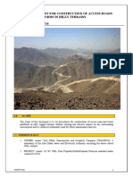 Method statement for Access road and platform construct ion in hilly areas