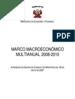CRECER NORMAS - MarcoMacroeconomicoMultianual_2008_2010