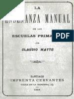 Matte, Claudio. La enseñanza manual en las escuelas primarias.pdf