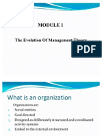 Module 1 Evolution of Management Theory