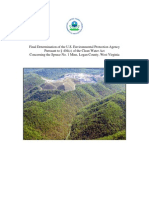 Final Veto of Spruce Coal Mine - Environmental Protection Agency (EPA)