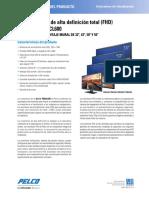 Wall Mount Monitor Spec Sheet (Spanish)
