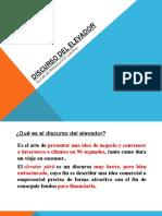 DISCURSO DEL ELEVADOR