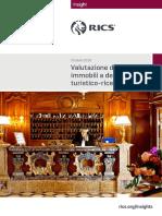 Valutazione Degli Immobili a Destinazione Turistico Ricettiva