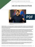 La ley contra el odio busca acabar con los vestigios de democracia en Venezuela - The New York Times