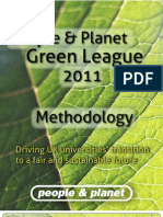Green League 2011 Methodology