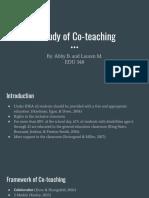 co-teaching paper presentation