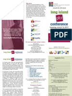 Long Island GLBT Conference Brochure