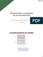 CLASE 1 - INTRODUCCIÓN A LA FISIOLOGÍA DEL SISTEMA NERVIOSO 2020-I