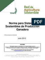 RAS Norma para Sistemas Sostenibles de Produccion Ganadera Julio 2010