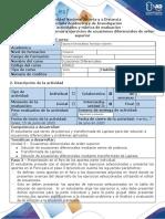 Guia de actividades y rubrica de evaluacion - Tarea  4 - Resolver problemas y ejercicios por medio de series de potencia y trasnformada de Laplace.docx